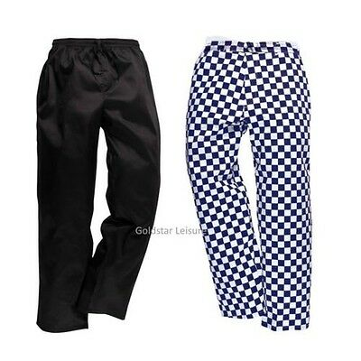 Drawstring Chef Work Trousers Pants Food Catering Lightweight Workwear C070