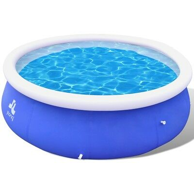 3 Sizes Selectable Inflatable Above Ground Swimming Pool Spa Round Fast Set Blue