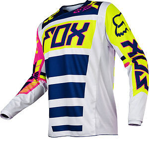 2017 Fox Racing YOUTH 180 Falcon Jersey Motocross Off Road NAVY/WHITE 17862-045