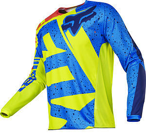 2017 Fox Racing YOUTH 180 Nirv Jersey Motocross Off Road YELLOW/BLUE 17267-586