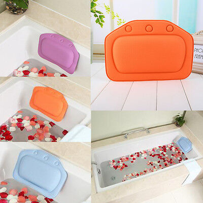 Bathtub Bath Pillow Bathroom Neck Spa Support Cushion Relax With Suction Cup