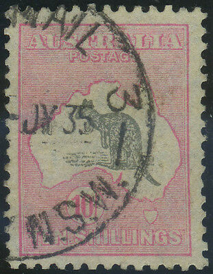 Australia, SG 136, 1931 C of A 10/- grey and pink, fine used, Cat £140, very fre