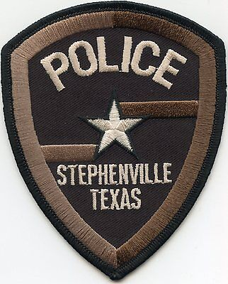 Stephenville Texas Tx Police Patch