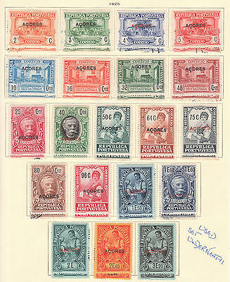 Portugal Azores 1904-30 1925 1926 1927 1928 Mint Stamp Collection + Postage Due