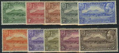 Montserrat, SG 84/93, 1932 Anniversary set to 5/- fine mint, complete, Cat £160.