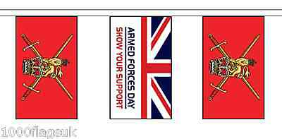 Armed Forces Day & British Army Polyester Flag Bunting - 5m with 14 Flags