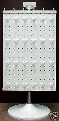 3 Sided Counter Top Peg Board Spinner Rack Display with Hooks