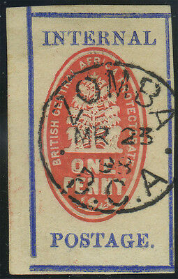 Nyasaland, SG 56a, 1898 1d vermilion and deep ultramarine [setting II], no contr