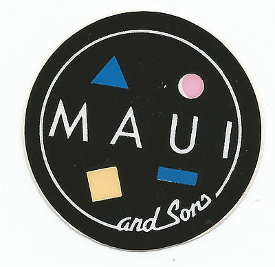 Sts191 - Sticker Adesivo Maui And Sons