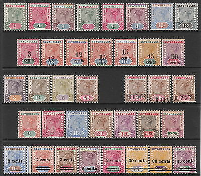 Seychelles 1890 1893 1896 1897 1900 1901 1902 Mint Victoria Stamp Collection