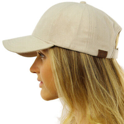 CC Everyday Faux Suede 6 Panel Solid Suede Baseball Adjustable Cap Hat
