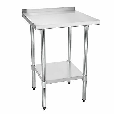 """24"""" x 24"""" Stainless Steel Work Bench Commercial Catering Table Backsplash 2x2FT"""