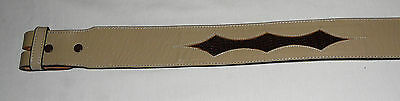 Genuine leather with alligator inlay Tony Lama belt without buckle