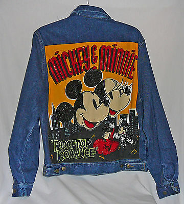 Mickey and Minnie Mouse Rooftop Romance denim jacket