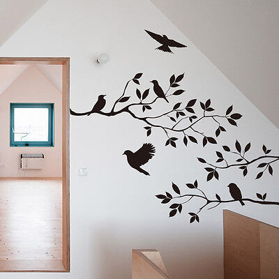 DIY Removable Tree & Bird Wall Sticker Vinyl Art Decal Mural Home Room Decor