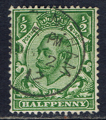 Great Britain #153(3) 1912 1/2 pence green King George V Used CV$4.50