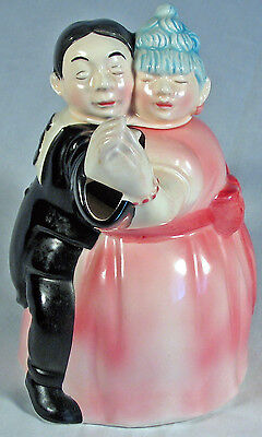 Dancing Couple Teapot, 80s vintage Roy Simpson J. Luber