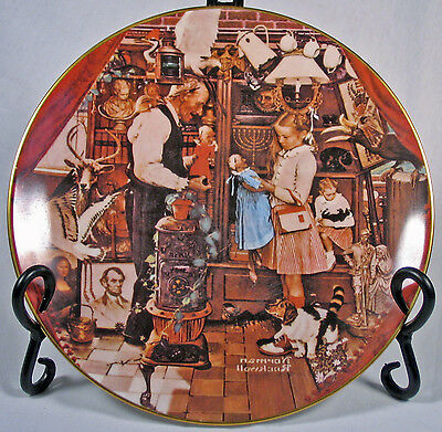 Norman Rockwell 1979 April Fool's Day Plate Ghent Coll.