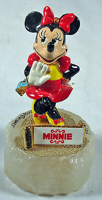 Stone & metal Minnie Mouse Limited Edition paperweight