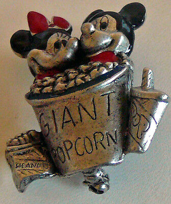 Minnie and Mickey Mouse Treat Brooch