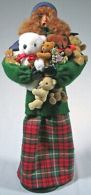 Caroler with Teddy Bear Babies Doll by Helen Sabatte