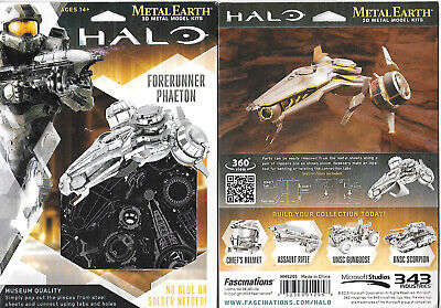 HALO Game UNSC Warthog Metal Earth 3-D Laser Cut Steel Model Kit #MMS291 SEALED