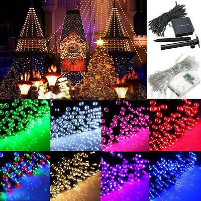 10-500 LED Electric/Solar/Battery Power String Fairy Light Xmas Wedding Decor
