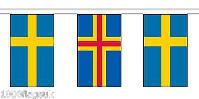Finland Aland Islands & Sweden Polyester Flag Bunting - 20m with 56 Flags