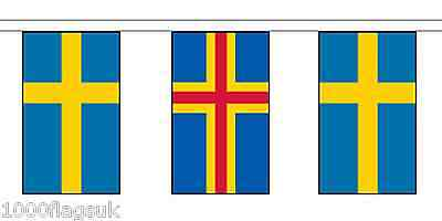 Finland Aland Islands & Sweden Polyester Flag Bunting - 10m with 28 Flags