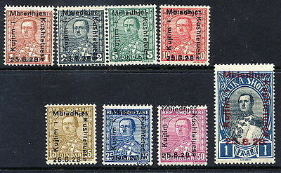 ALBANIA 1928 National Assembly set LHM / *