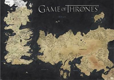 Game of Thrones Map of Westeros & Essos Giant XXL Poster - 140x100 cm