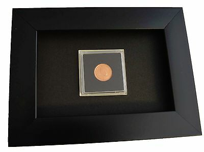 Black Coin Display Frame for coins measuring 14 mm to 41 mm