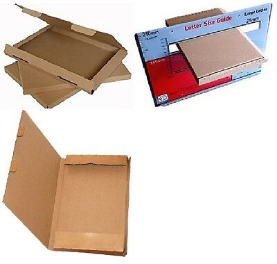 C4 A4 Mailing Box Size Large Letter Strong Cardboard Shipping Pip Postal Brown