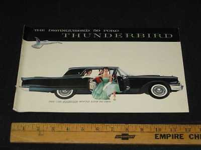 1959 Ford Thunderbird Car Prestige Sales Brochure