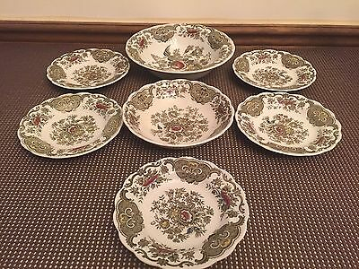 """Ridgway of Staffordshire """"WINDSOR"""" Multicolor ~ LOT of 7 Pieces ~ Saucers, Bowls"""