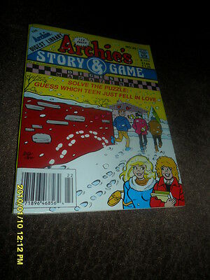 1992 Archie's Story & Games Comic  Digest Magazine #22 Winter Love Day