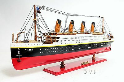 Wooden Ship Model - Titanic - Fully Assembled - Painted