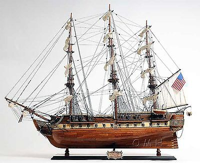 Handmade Wooden Model Ship - USS Constitution - New - Fully Assembled