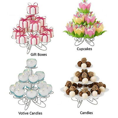 Party Decoration 3 Tier 13 Cupcakes Stand Holder Weeding Dessert Tower Display