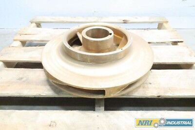 New 6-Vane 18In Od 3-3/4 In Id Brass Pump Impeller D538603