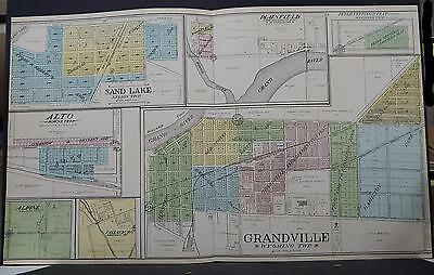 Michigan, Kent County Map, 1907 Grandville, Sand Lake, Plainfield P1#83