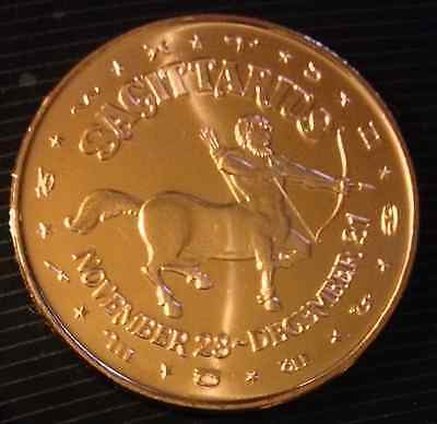 1 Oz Copper Round Zodiac Sign Sagittarius November 23 - December 21