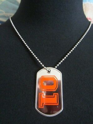 "(1) 30"" inch 01 GENERAL LEE Dukes of Hazzard Life Dog Tag ORANGE"