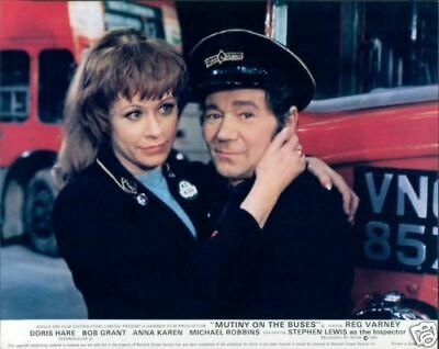 Mutiny On The Buses Reg Varney Janet Mahoney Lobby Card