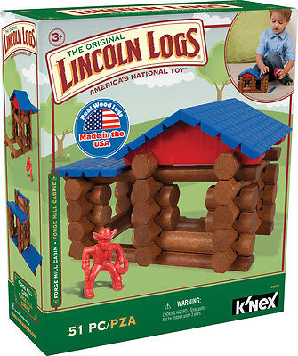 Forge Mill Cabin Lincoln Logs Real Wood Logs Construction Building Toy  00831