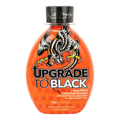 Ed Hardy Upgrade To Black Dark Indoor Tanning Triple Bronze 1 Hour Lotion 13.5oz