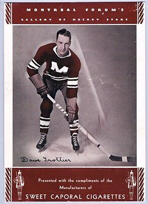1934-35 Sweet Caporal Dave Trottier  Montreal Maroons Hockey Premium Photo