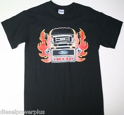 Ford Powerstroke tee t shirt tshirt short sleeve decal diesel truck power stroke