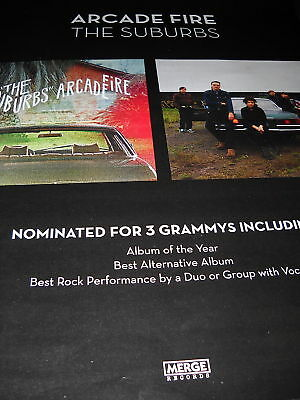 ARCADE FIRE Nominated for 3 Grammys PROMO POSTER AD
