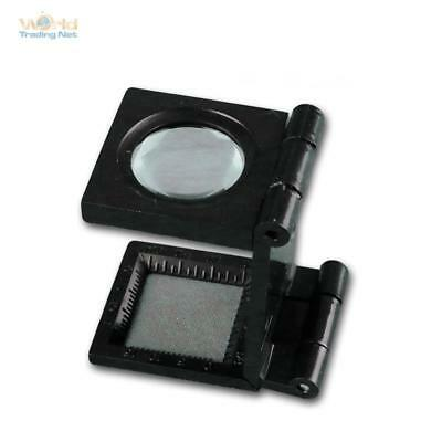 Magnifying glass with stand 8x Magnification foldable,Thread counter magnifier,